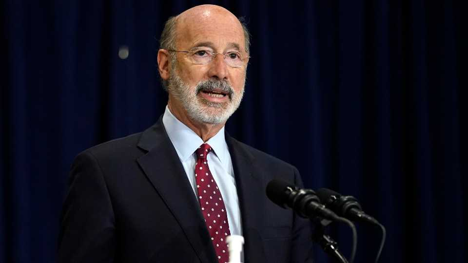 Pennsylvania Gov. Tom Wolf speaks during a news conference offering updates regarding the counting of ballots in the 2020 general election, Wednesday, Nov. 4, 2020, in Harrisburg, Pa.