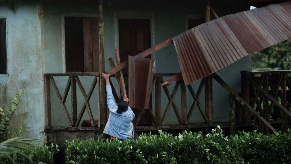 Eta slammed into Nicaragua's Caribbean coast with potentially devastating winds Tuesday, while heavy rains thrown off by the Category 4 storm already were causing rivers to overflow across Central America