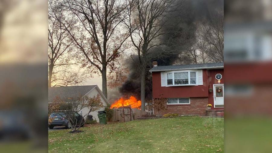 Weathersfield Twp. shed fire