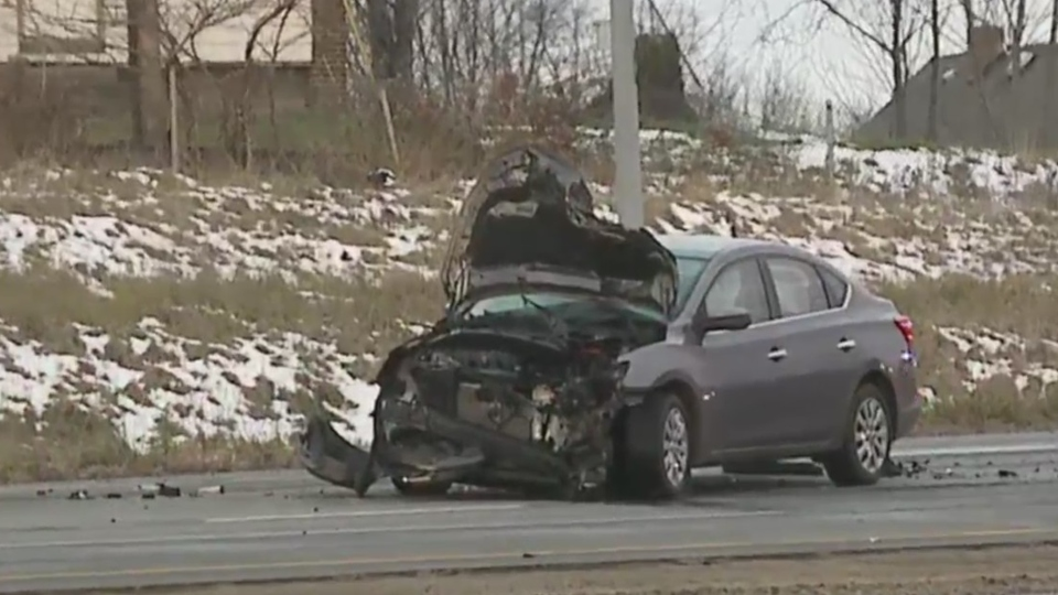 Crash on I-680 in Youngstown