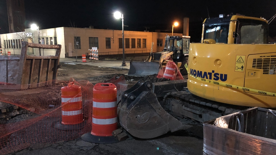 East Liverpool water main break, Fourth Street