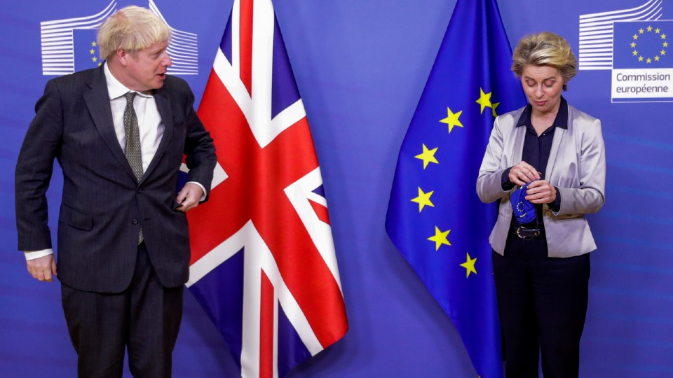 European Commission President Ursula von der Leyen and British Prime Minister Boris Johnson