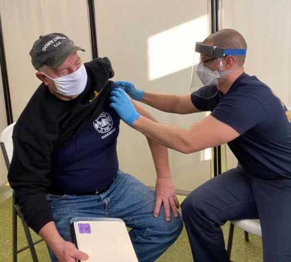First responder vaccinated at Burghill Vernon Fire Department