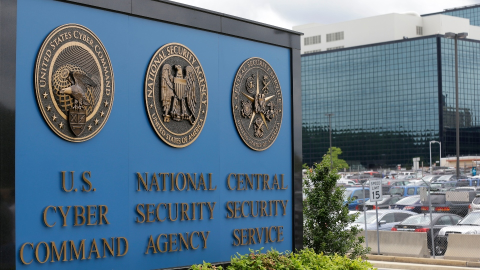 FILE - This June 6, 2013 file photo, shows the sign outside the National Security Agency (NSA) campus in Fort Meade, Md.All fingers are pointing to Russia as author of the worst-ever hack of U.S. government agencies. But President Donald Trump, long wary of blaming Moscow for cyberattacks has so far been silent