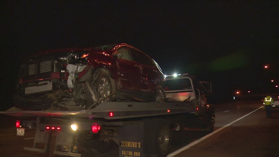 One person was hurt after the vehicle they were in rolled over on Interstate 680 in Boardman.