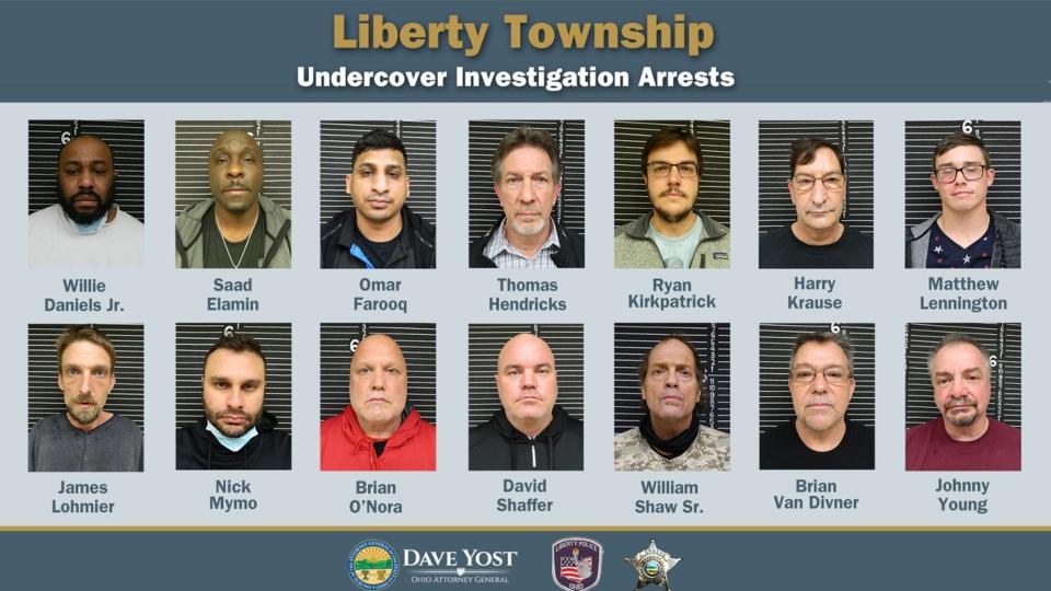 Liberty Township human trafficking arrests