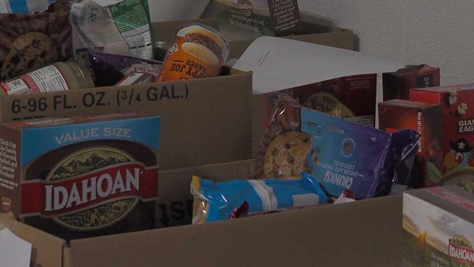 Lordstown Police food giveaway
