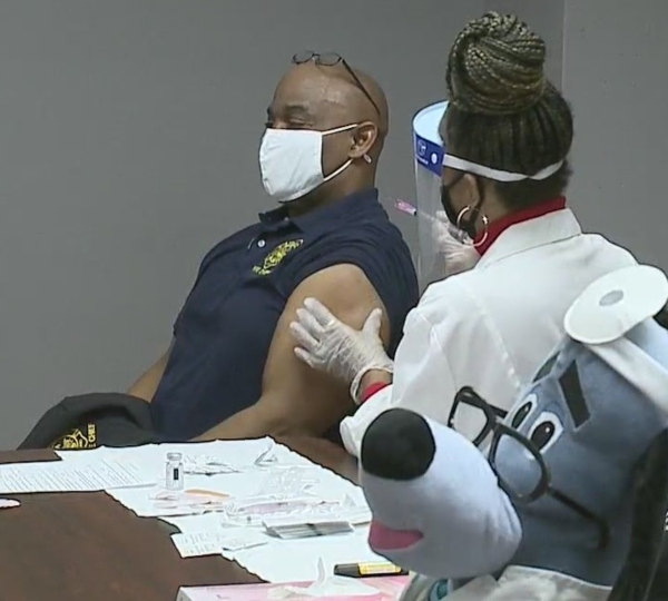 Youngstown Fire Chief Barry Finley gets coronavirus vaccine