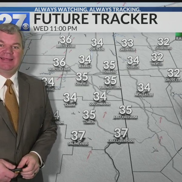 Chance for a rain or snow shower overnight