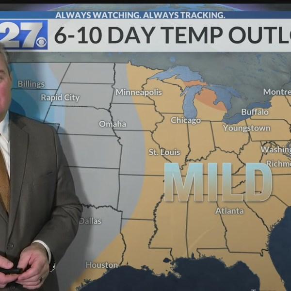 Mild temperatures will stick around this week