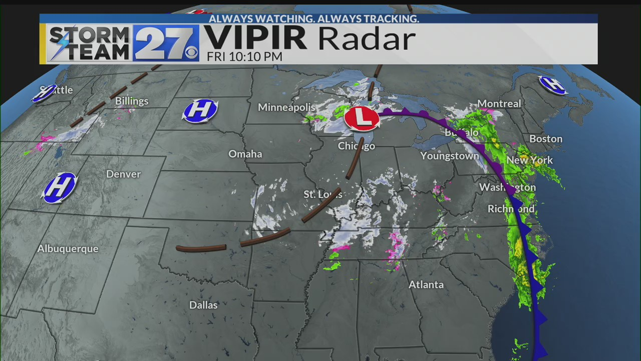 Tracking colder temperatures and the chance for snow showers this weekend