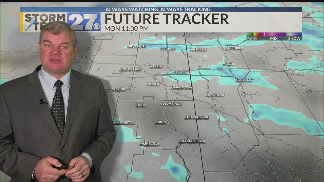 Scattered snow showers or flurries overnight