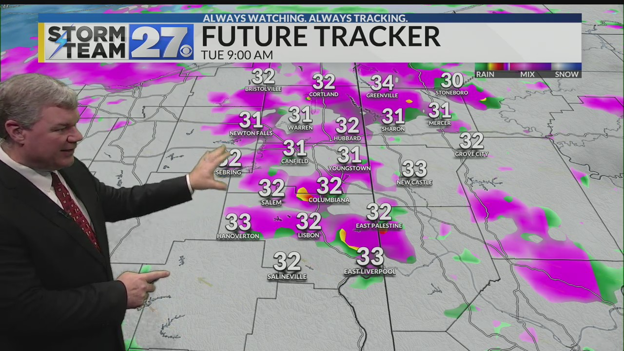 Light wintry mix possible through morning