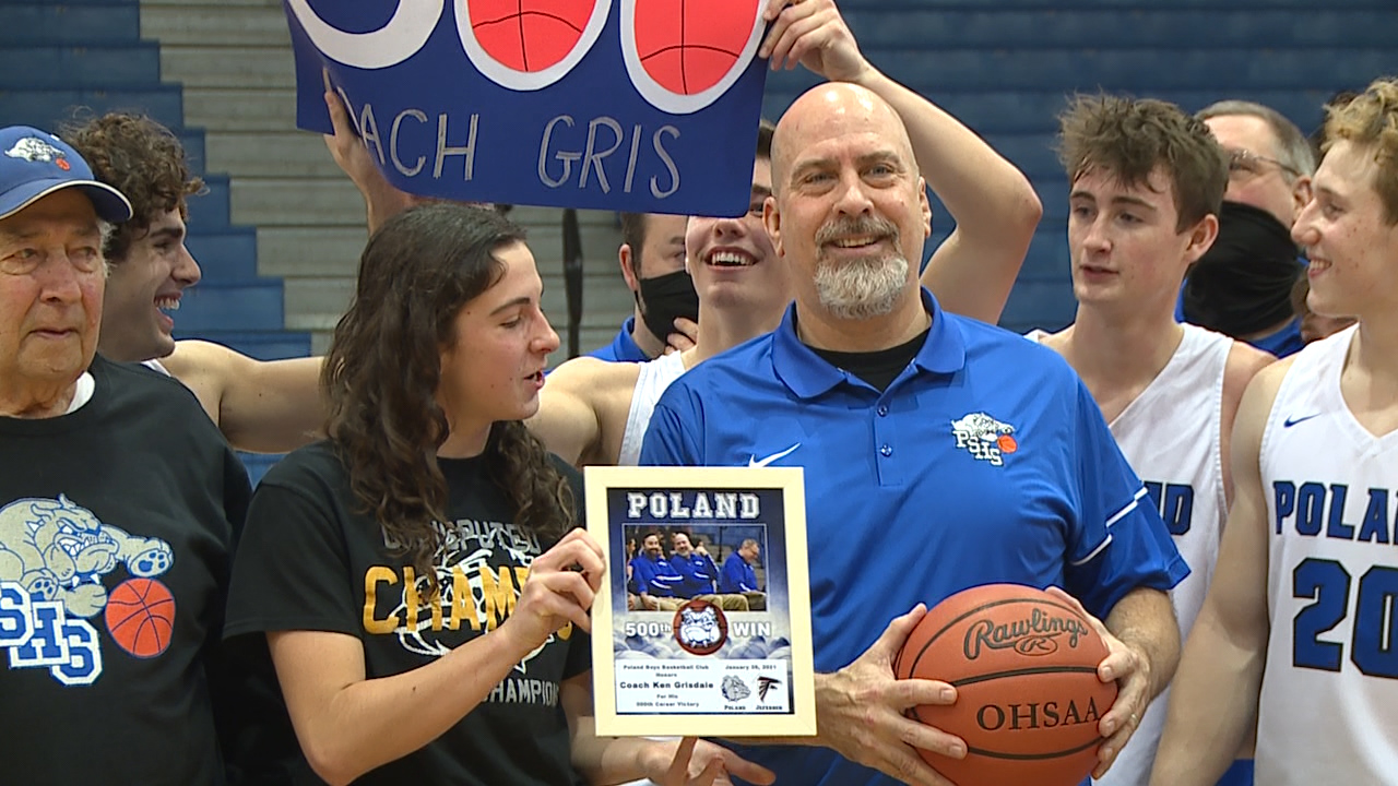 Ken Grisdale becomes just the 47th boys coach in Ohio history to accomplish the feat