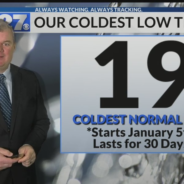 The coldest time of the year moves in this week
