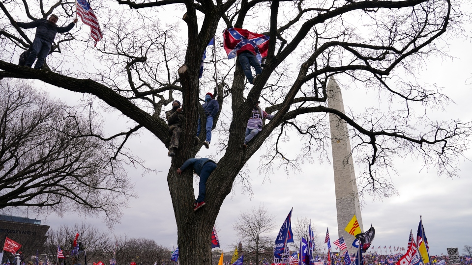 In this Wednesday, Jan. 6, 2021, file photo, supporters of President Donald Trump participate in a rally in Washington.