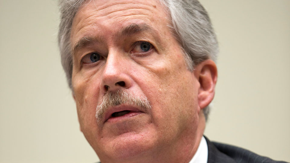 In this Dec. 12, 2012 file photo, then Deputy Secretary of State William Burns, who is in charge of policy, testifies during a House Foreign Affairs Committee hearing in Washington.