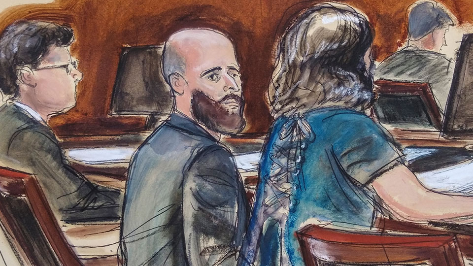 courtroom sketch Joshua Schulte