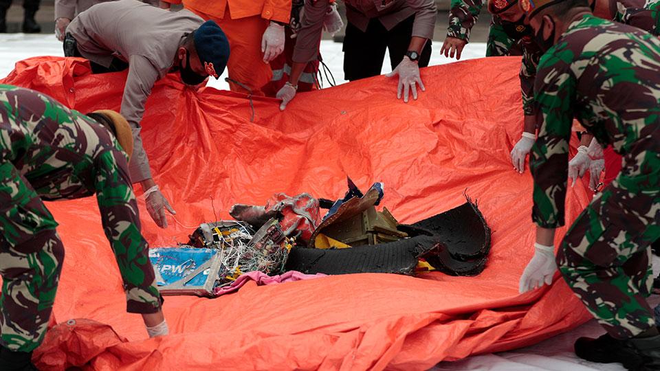 debris from Indonesian plane crash