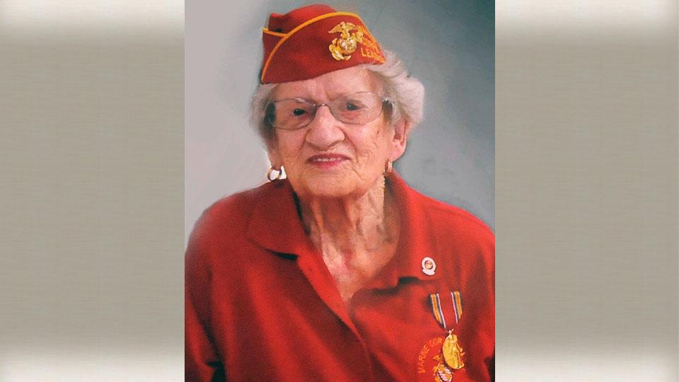 Oldest Marine, Dorothy Schmidt Cole