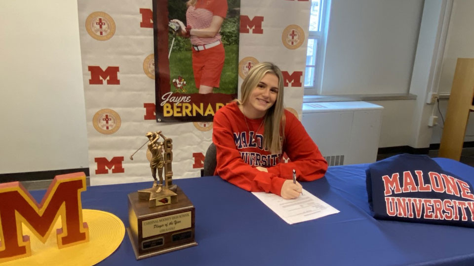 Jayne Bernard, Cardinal Mooney Athlete, Malone commit