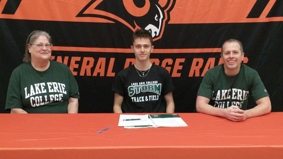 Mineral Ridge Rams, High School commit, Lake Erie college