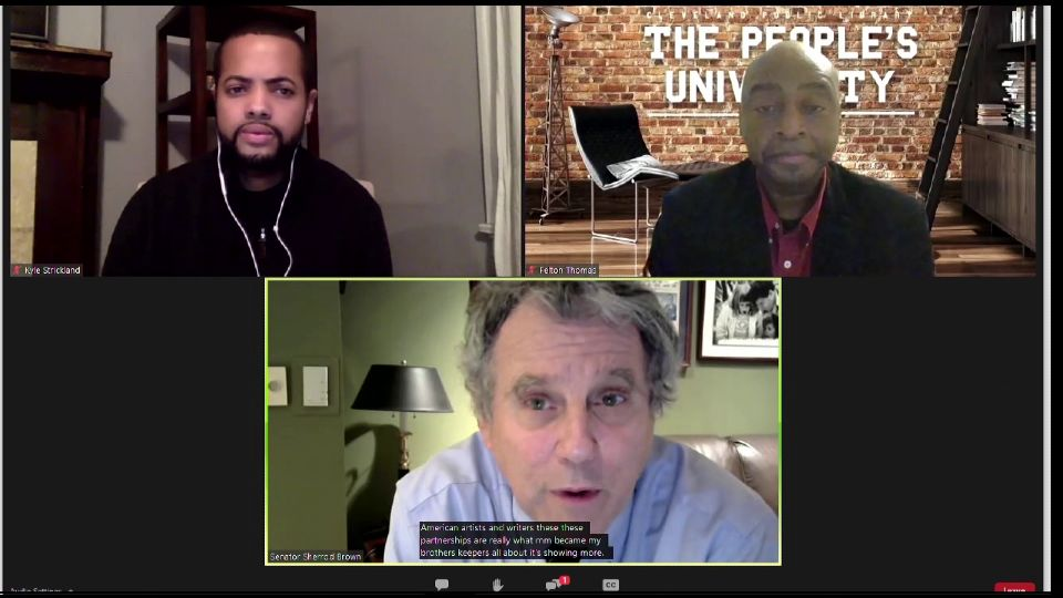 Ohio Senator Sherrod Brown announced Monday a program to support young African Americans in the state