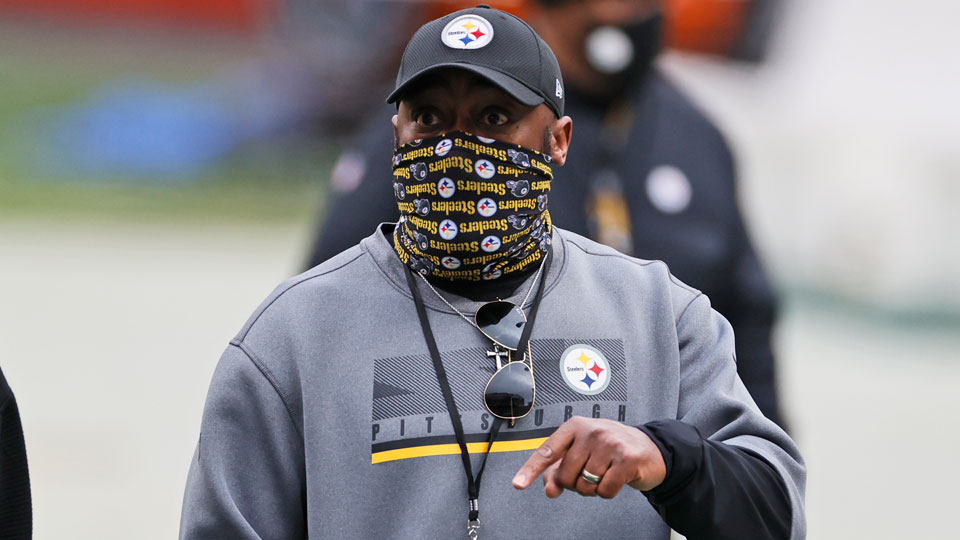 Pittsburgh Steelers head coach Mike Tomlin is shown before an NFL football game against the Cleveland Browns