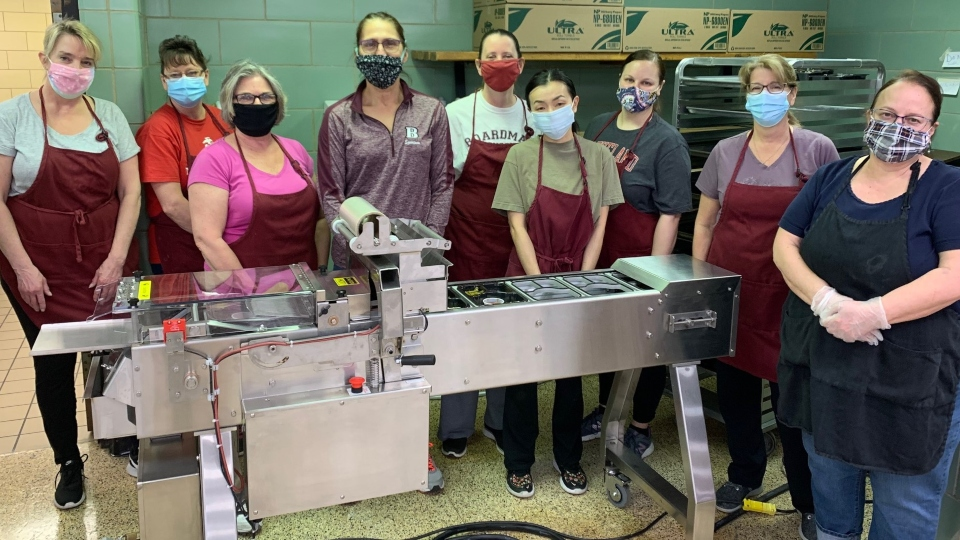 Boardman High School food sealing machine