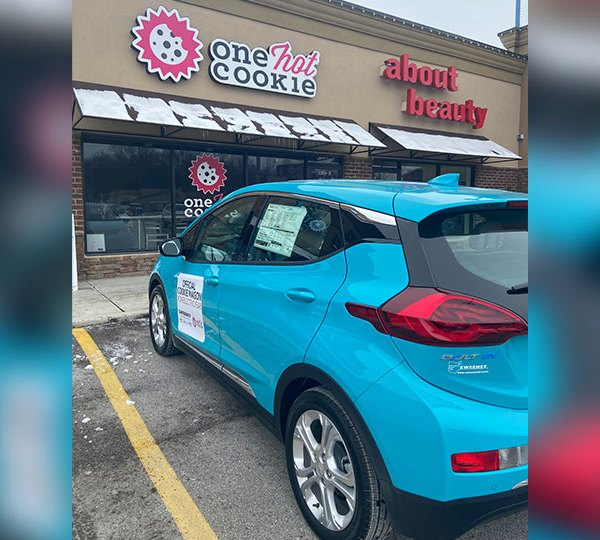 Chevy Bolt One Hot Cookie outside