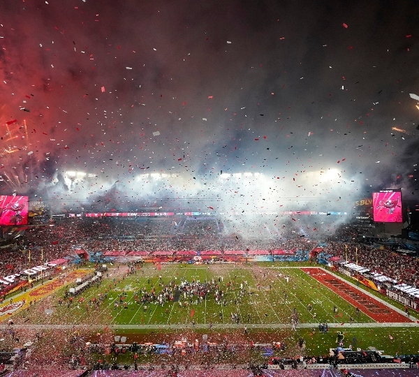The Weeknd performs during halftime of the NFL Super Bowl 55 football game between during the halftime show of the NFL Super Bowl 55 football game between the Kansas City Chiefs and Tampa Bay Buccaneers, Sunday, Feb. 7, 2021, in Tampa, Fla.
