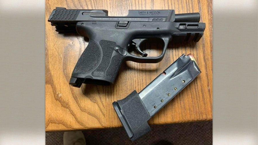 Dexter Brand, loaded handgun