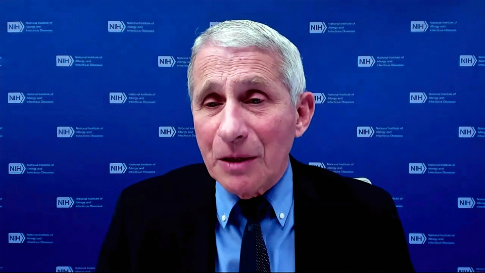 In this image from video, Dr. Anthony Fauci, director of the National Institute of Allergy and Infectious Diseases and chief medical adviser to the president, speaks during a White House briefing on the Biden administration's response to the COVID-19 pandemic Wednesday, Jan. 27, 2021, in Washington.