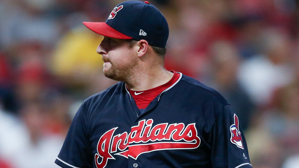 Former Cleveland Indians relief pitcher Bryan Shaw