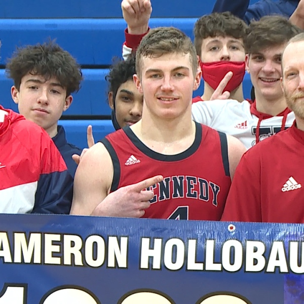 Cam Hollobaugh helped Kennedy pick up their 8th win of the season while reaching the milestone mark