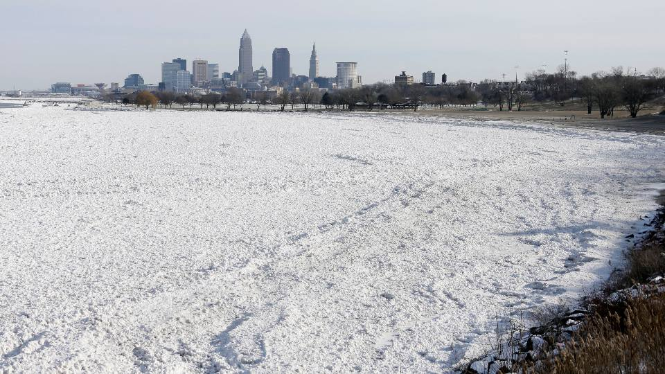 Lake Erie ice near Cleveland