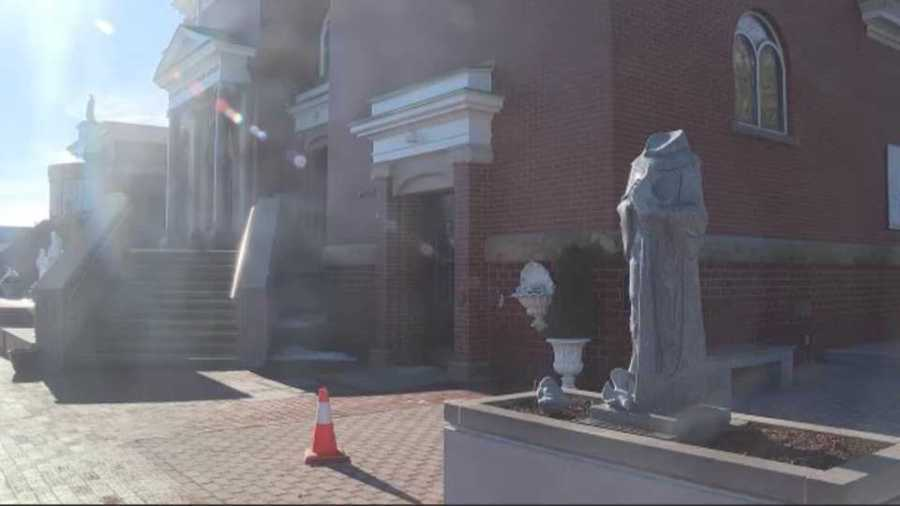Police are investigating vandalism at Basilica of Our Lady of Mount Carmel in Youngstown.