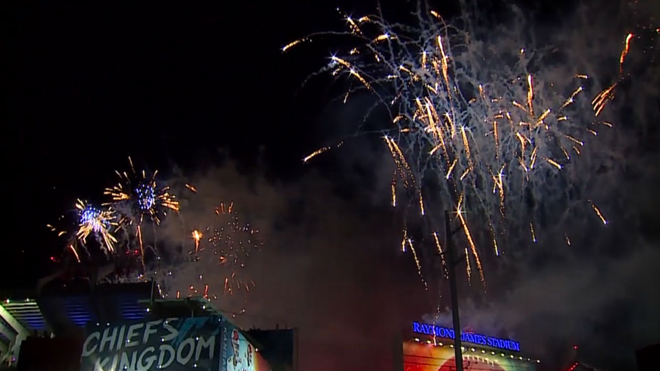 New Castle Pyrotechnico at Super Bowl LV