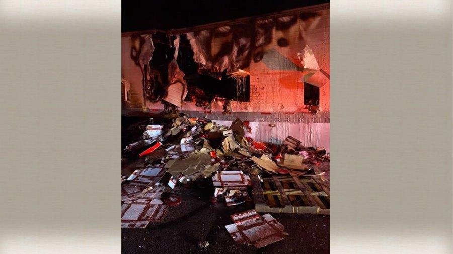 Newton Falls Truck Fire