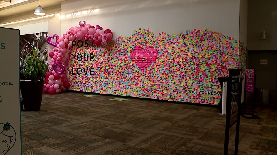 Post Your Love wall at Southern Park Mall