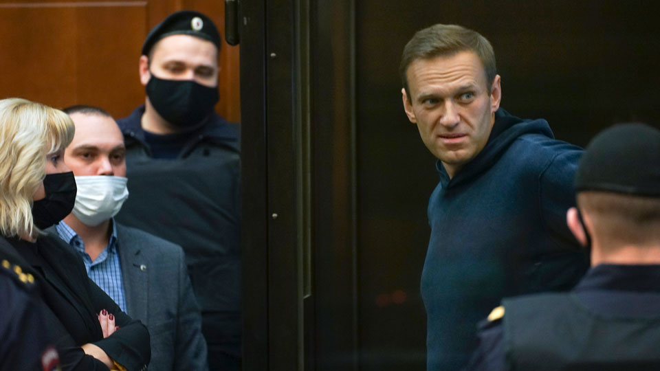 Moscow City Court Russian opposition leader Alexei Navalny
