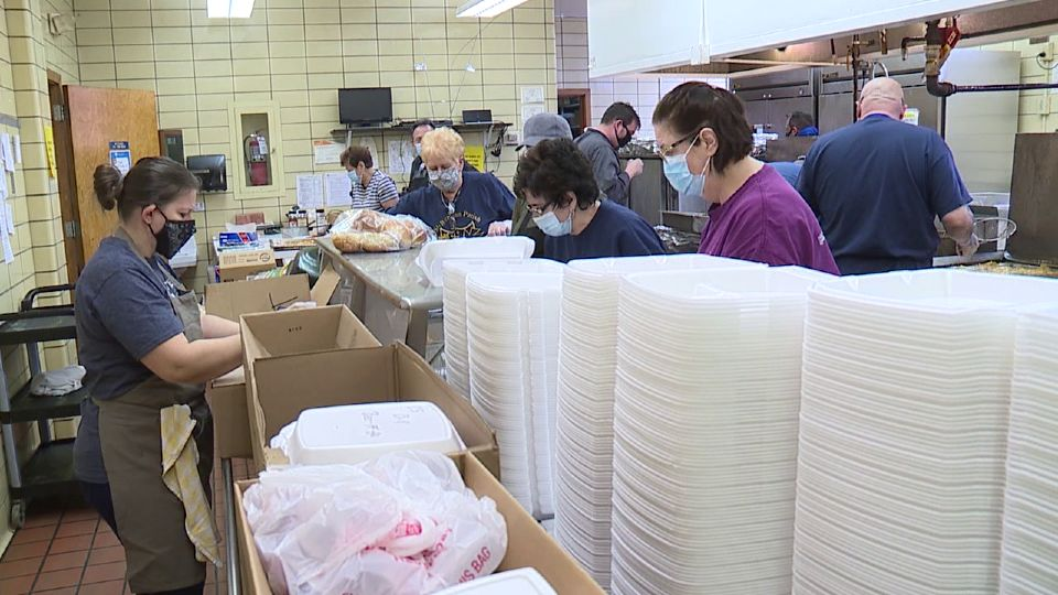 After nearly 30 years of preparing and serving fish dinners during Lent, volunteers with Saint Brendan's Parish have become strictly a drive-thru operation.