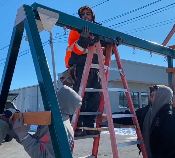 David Sweeney and volunteers were putting in some work on building Rowan's Memorial Park.