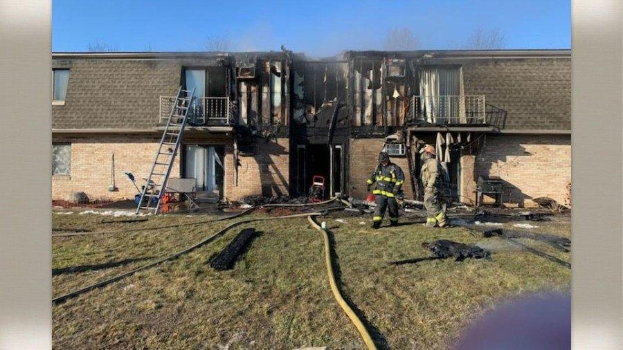 Warren apartment complex fire