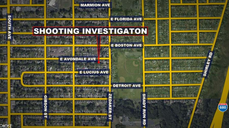 Avondale Ave., Youngstown Shooting Map