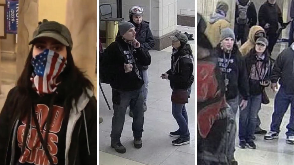 Capitol suspects in capitol riot