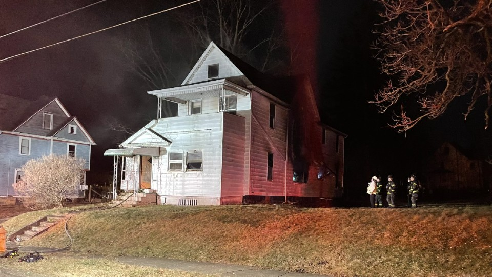 E. Marion Avenue house fire in Youngstown