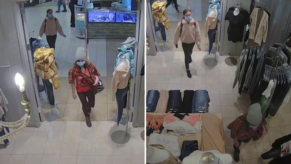 Girls stealing at Eastwood Mall