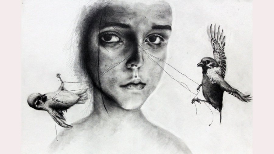 Hubbard High School students' artwork (4)