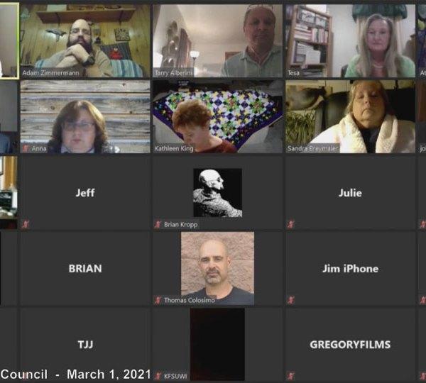Newton Falls Council Meeting, March 1, 2021